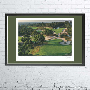 A framed and mounted print of Peninsula Kingswood Golf Club by Gary Lisbon