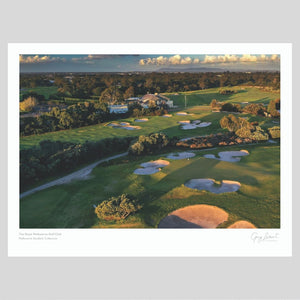A fine art print of The Royal Melbourne Golf Club West
