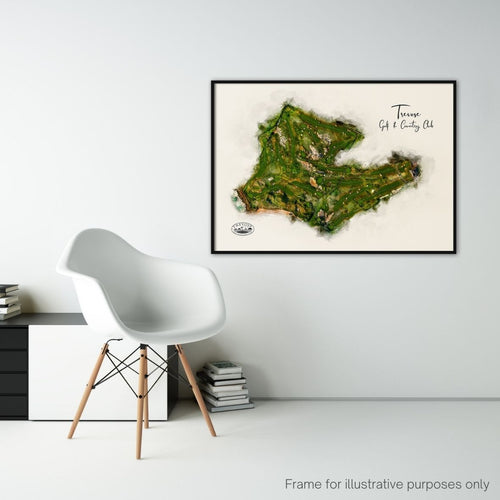 FRAMED PRINT SHOWING TREVOSE GOLF CLUB