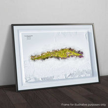 Load image into Gallery viewer, Royal West Norfolk Golf Club (Brancaster) - 3D WaterMap Print