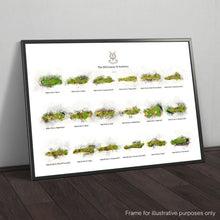 Load image into Gallery viewer, Framed print of St Andrews 18 hole compilation