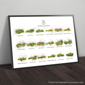 Framed print of St Andrews 18 hole compilation