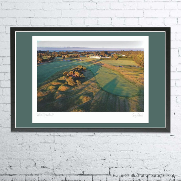 A framed and mounted print of The Royal Melbourne Golf Club East  by Gary Lisbon
