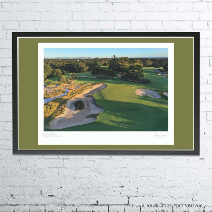 A framed and mounted print of Victoria Golf Club