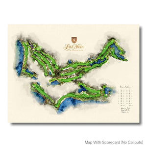 Lake Nona Golf Print With Scorecard by Joe McDonnell