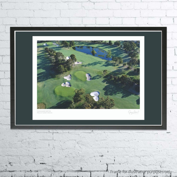 A framed and mounted print of Commonwealth Golf Club by Gary Lisbon