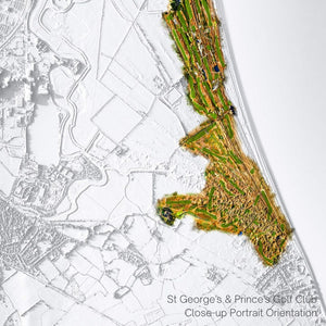 Kent Golf Clubs 3D WaterMap Compilation - Limited Edition Print (10 Available)