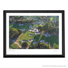 Load image into Gallery viewer, A black framed print of Huntingdale Golf Club  by Melbourne based Gary Lisbon