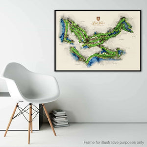 Large Lake Nona Golf Club Framed Print with Callouts