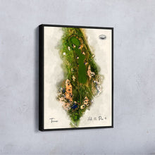 Load image into Gallery viewer, Hole 15 print at Trevose Golf & Country Club as a float frame canvas.