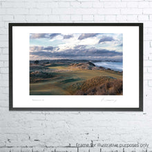 Load image into Gallery viewer, A photo of the 4th hole at Portmarnock taken by Kevin Murray shown framed.