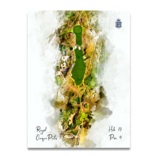 Load image into Gallery viewer, Royal Cinque Ports Hole 17 unframed print on Evalu18