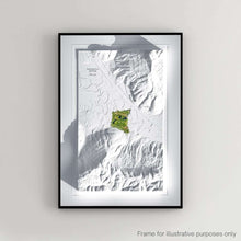 Load image into Gallery viewer, Framed print showing Sweetens Cove Golf Club as a 3D WaterMap by Joe McDonnell