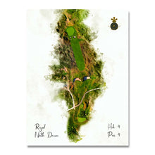 Load image into Gallery viewer, Royal North Devon golf club unframed WaterMap print on Evalu18