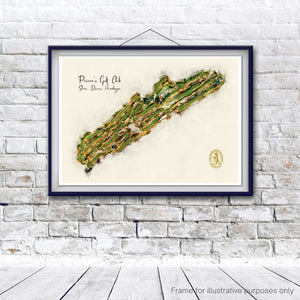 Framed print of princes golf club featuring shores, dunes and himalayas golf courses
