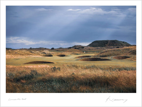 A photograph of the 2nd hole at Carnoustie as shot by Kevin Murray.