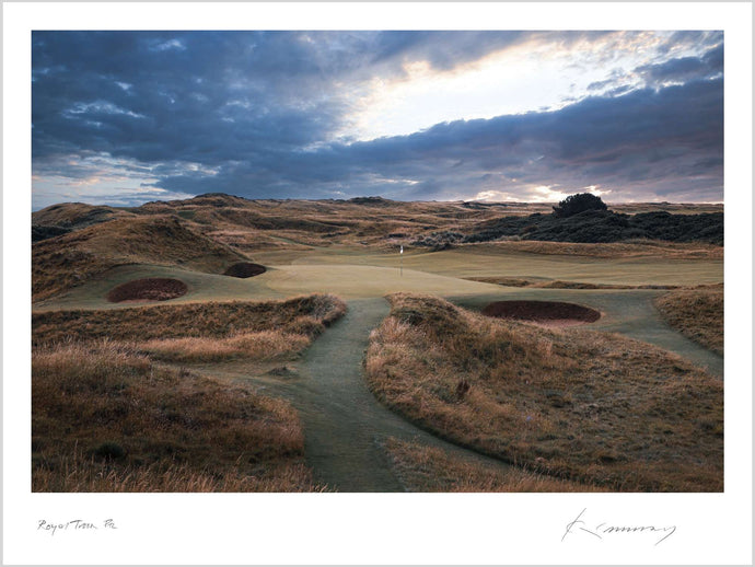 A photograph of the 8th hole at Royal Troon by Kevin Murray.