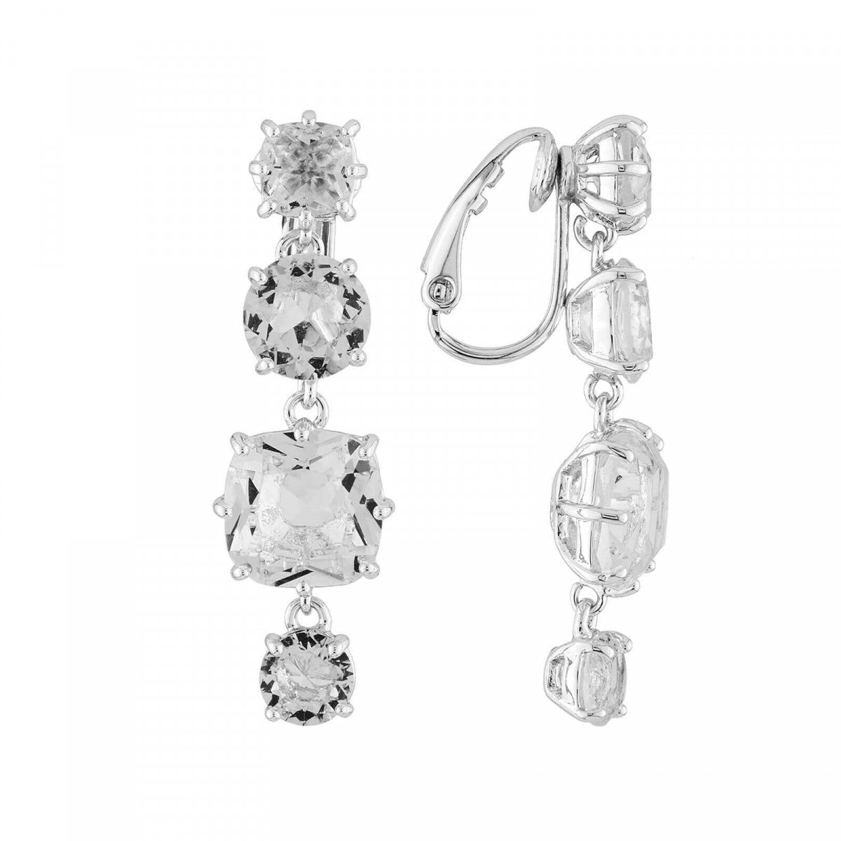 La Diamantine 4 Stones Clip-on Earrings