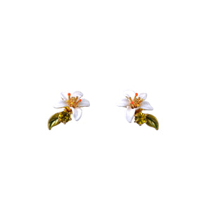 Orange Blossom Stud Earrings