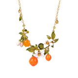 Orange Blossom and Oranges Collar Necklace