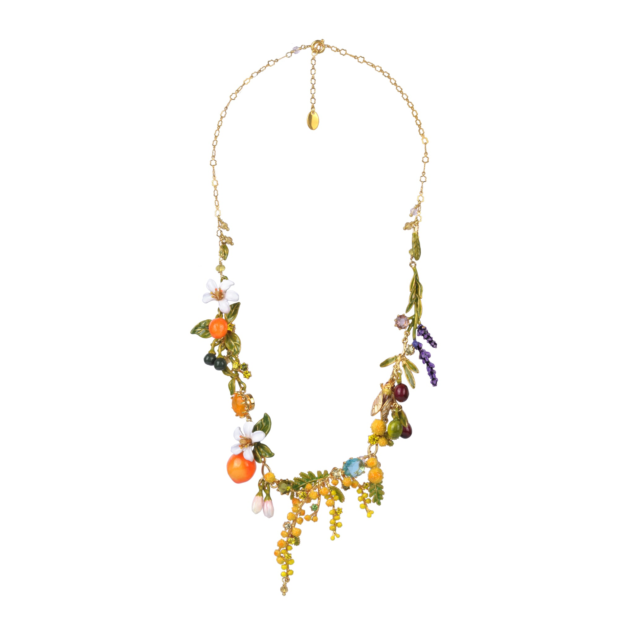 Multi Element of Provence Garden Collar Necklace