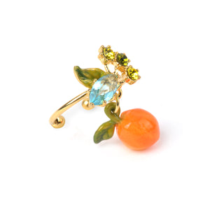 Orange and Stone Adjustable Ring