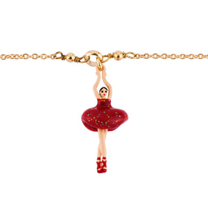 Bracelet with Mini Ballerina in a Red Tutu