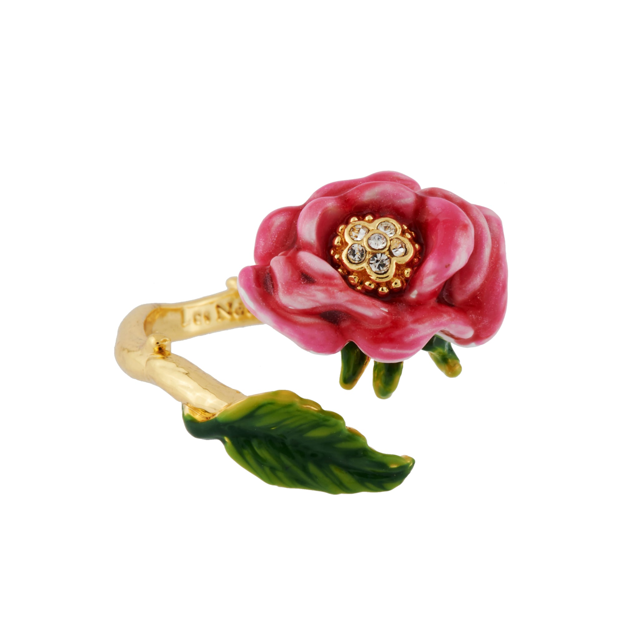 Pink Flower Adjustable Ring