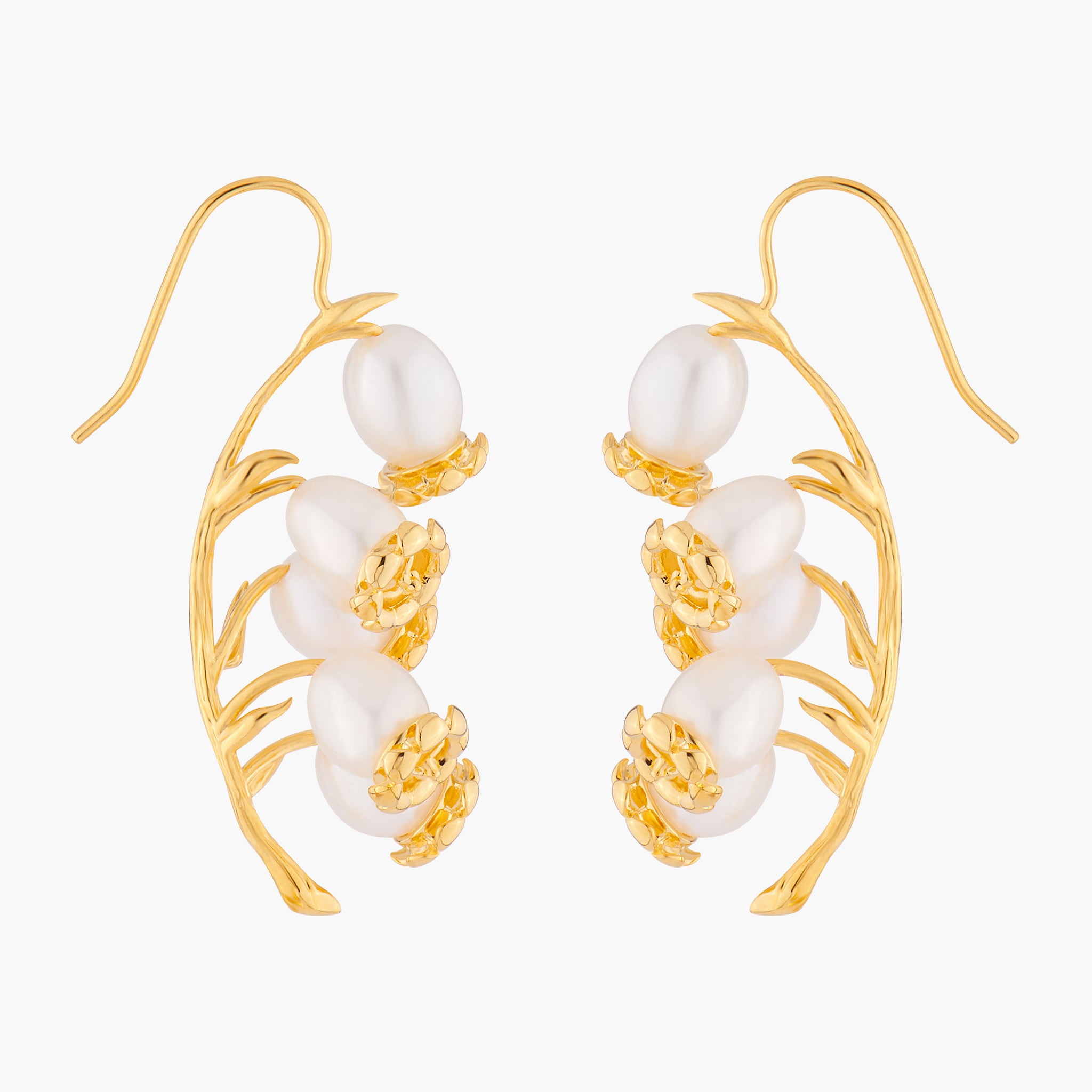 Lily of the Valley Blossoms Hook Earrings