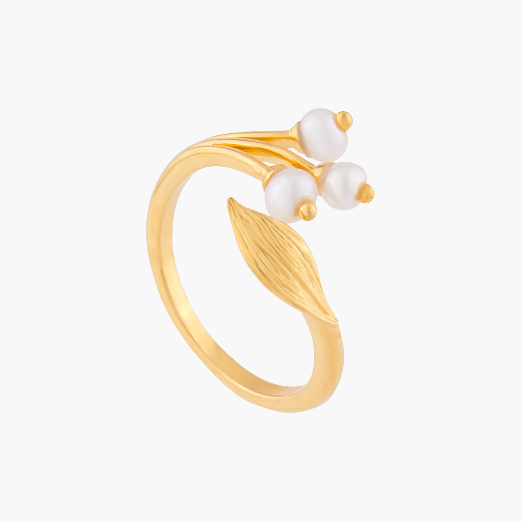 Lily of the Valley Adjustable Ring