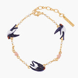 Flying Swallows Chain Bracelet