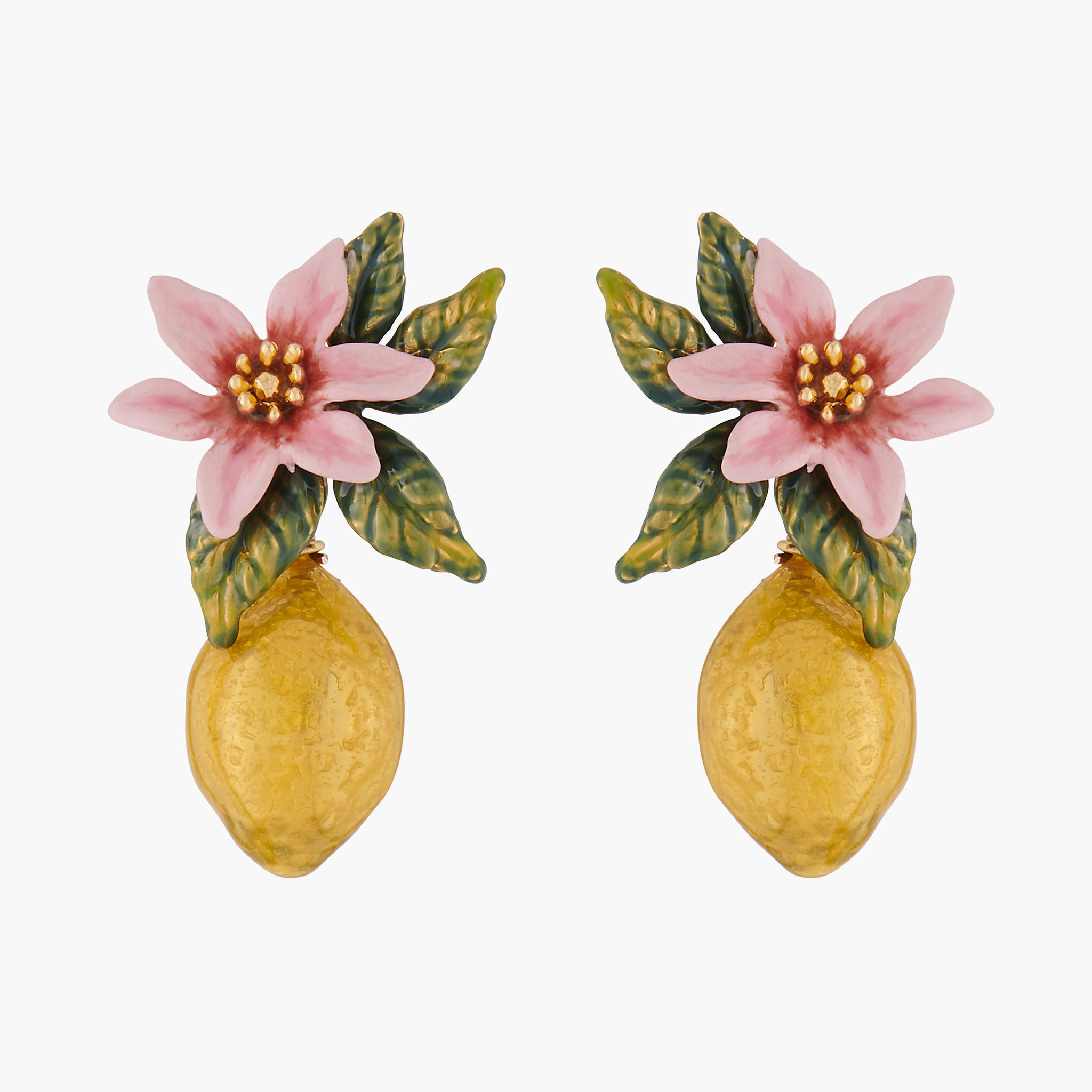 Lemon and Citrus Blossom Stud Earrings