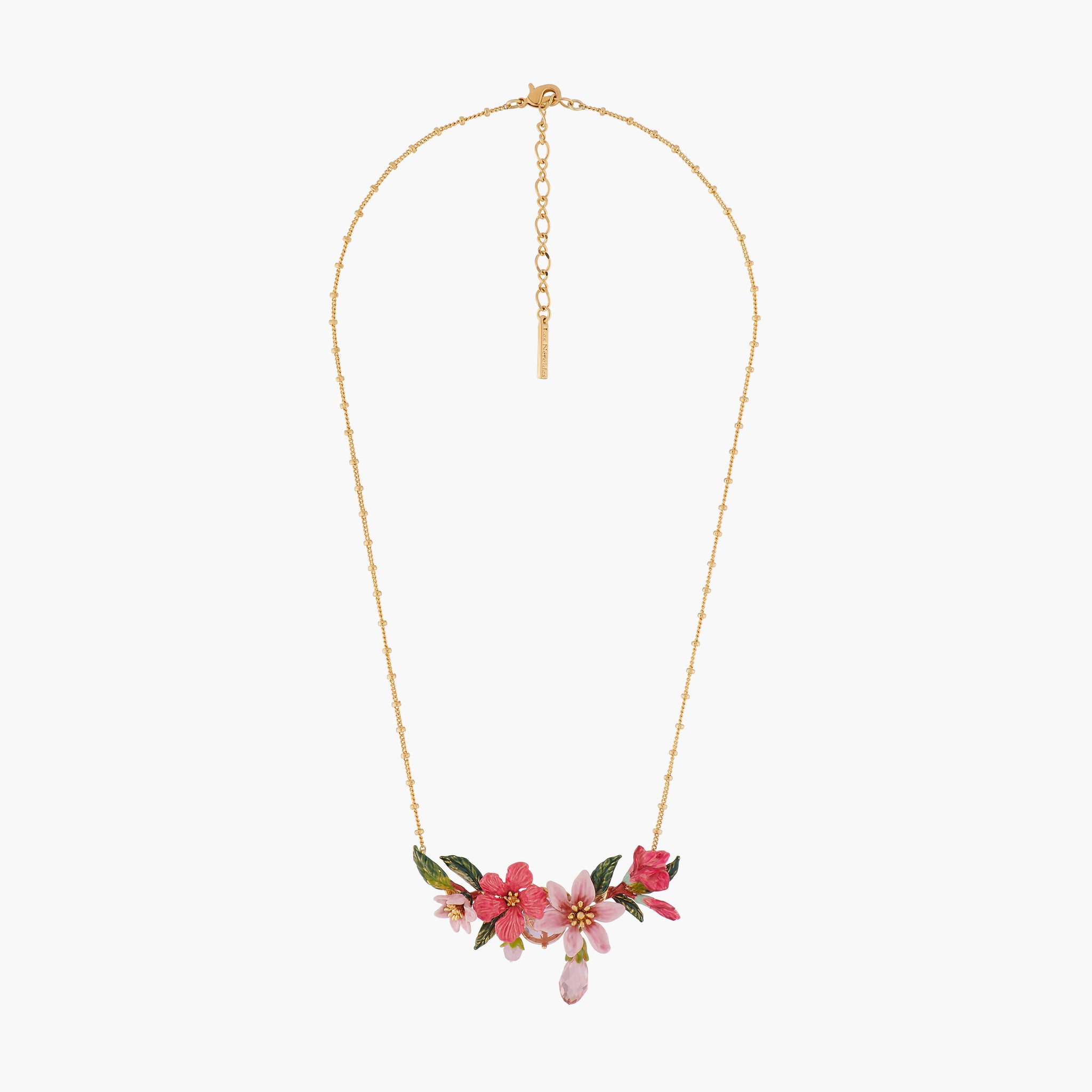 Oleander Flower and Buds Collar Necklace