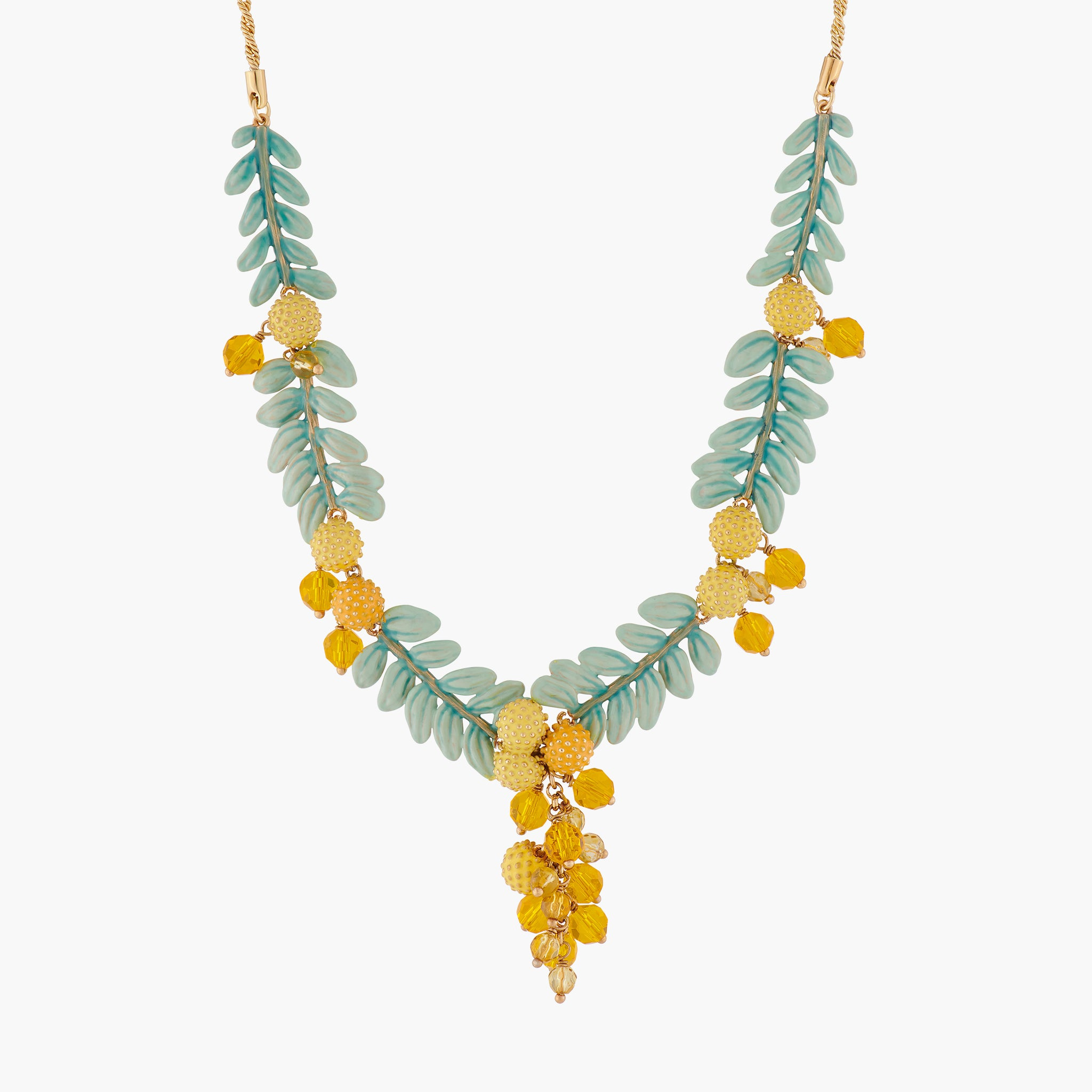 Mimosa Flowers Collar Necklace