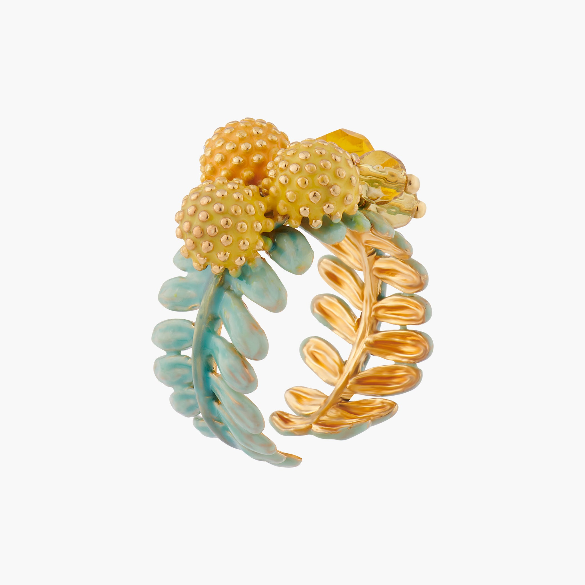 Mimosa Blossoms Adjustable Ring