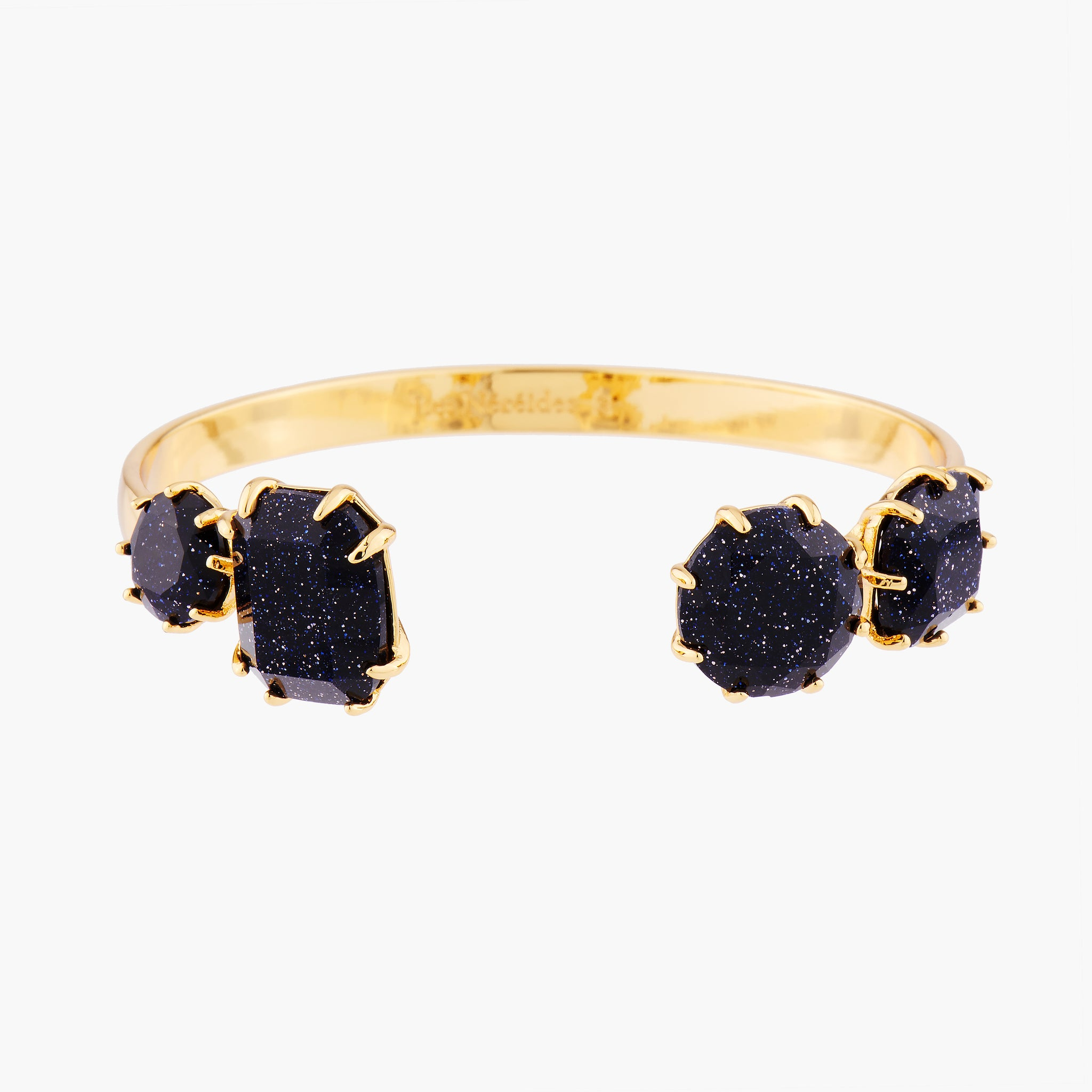 Deep Sparkling Blue 4 Stones La Diamantine Bangle Bracelet