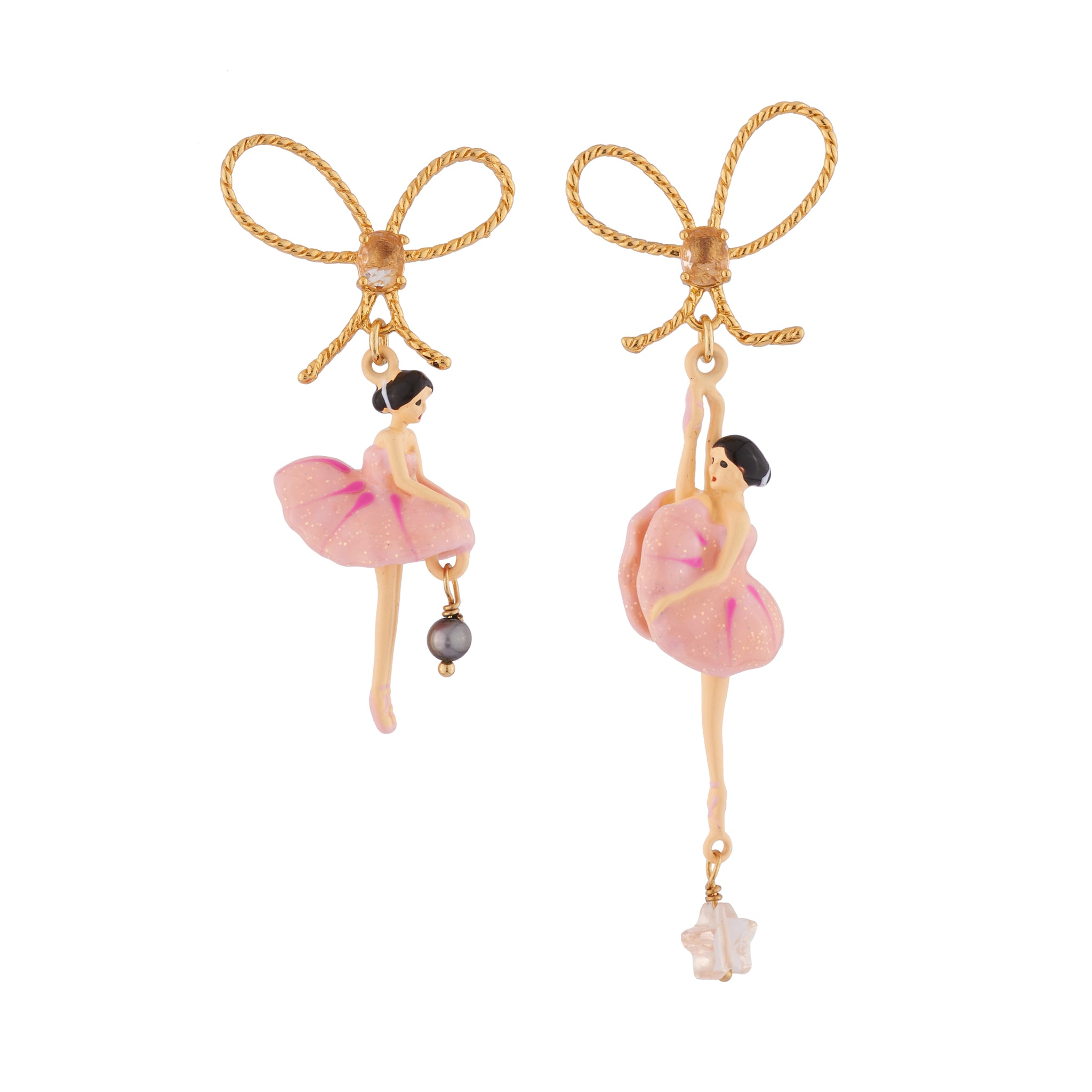 Pink Toe-dancing Ballerina Earrings
