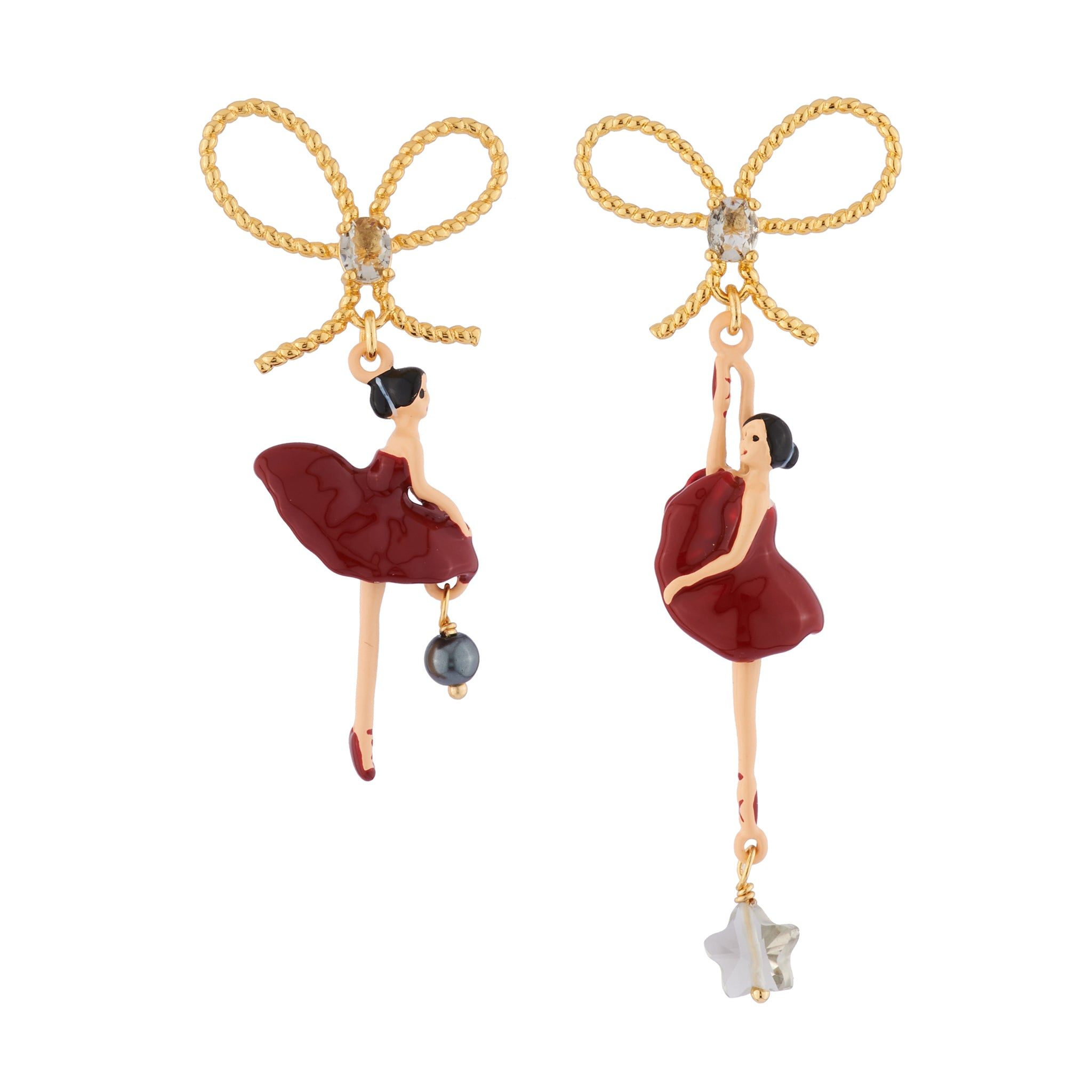 Red Toe-dancing Ballerina Earstuds