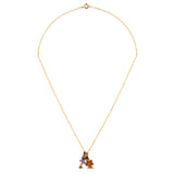Blossoming Alphabet Necklace Letter A