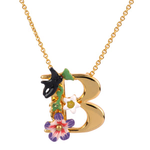 Blossoming Alphabet Necklace Letter B