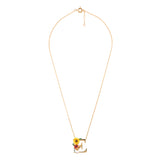 Blossoming Alphabet Necklace Letter E