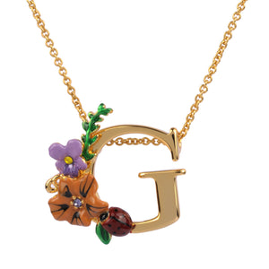 Blossoming Alphabet Necklace Letter G