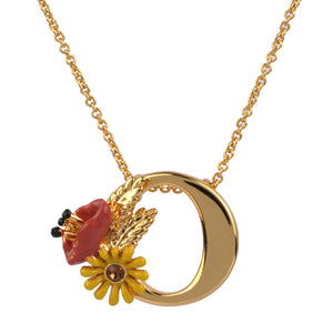 Blossoming Alphabet Necklace Letter O