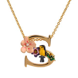 Blossoming Alphabet Necklace Letter S