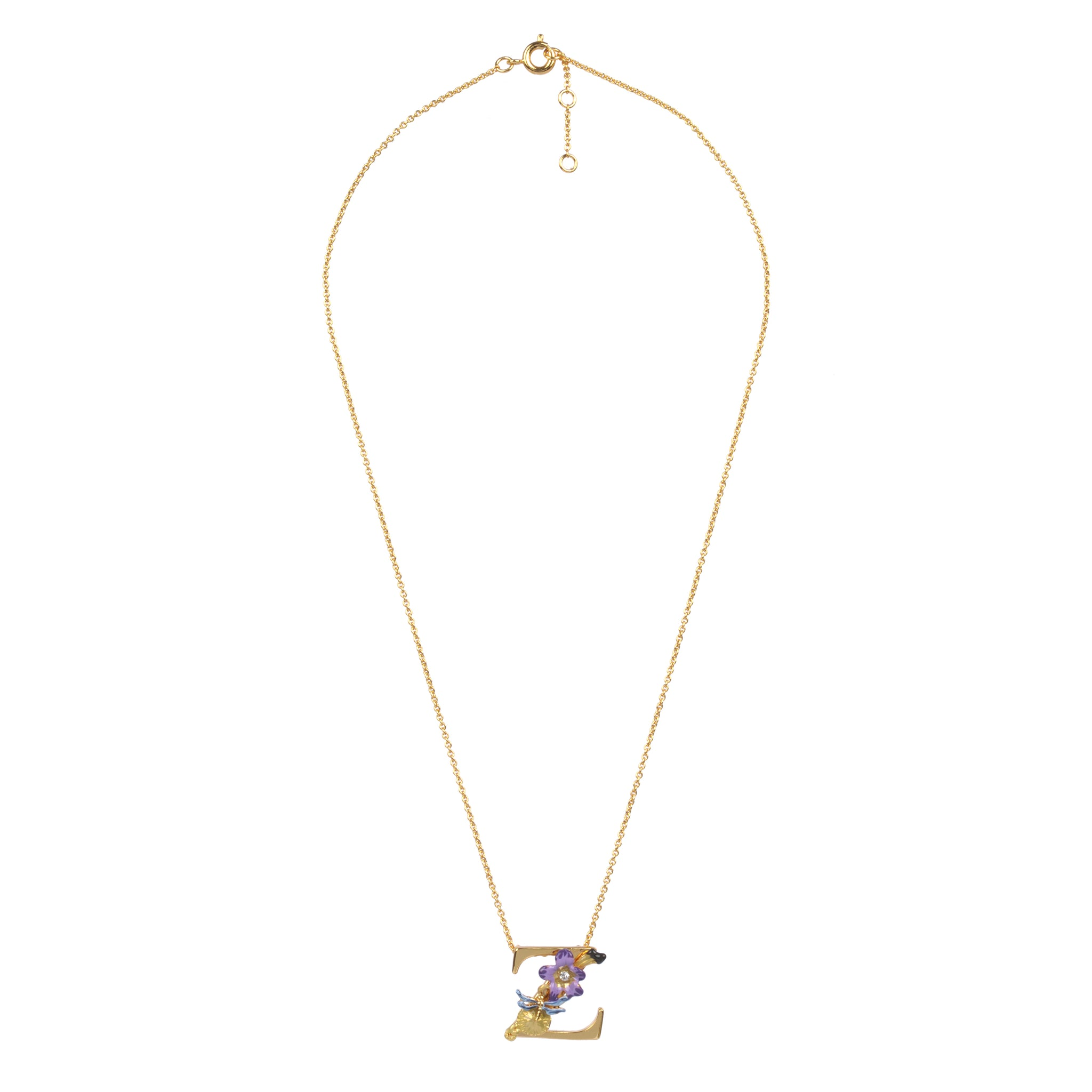 Blossoming Alphabet Necklace Letter Z