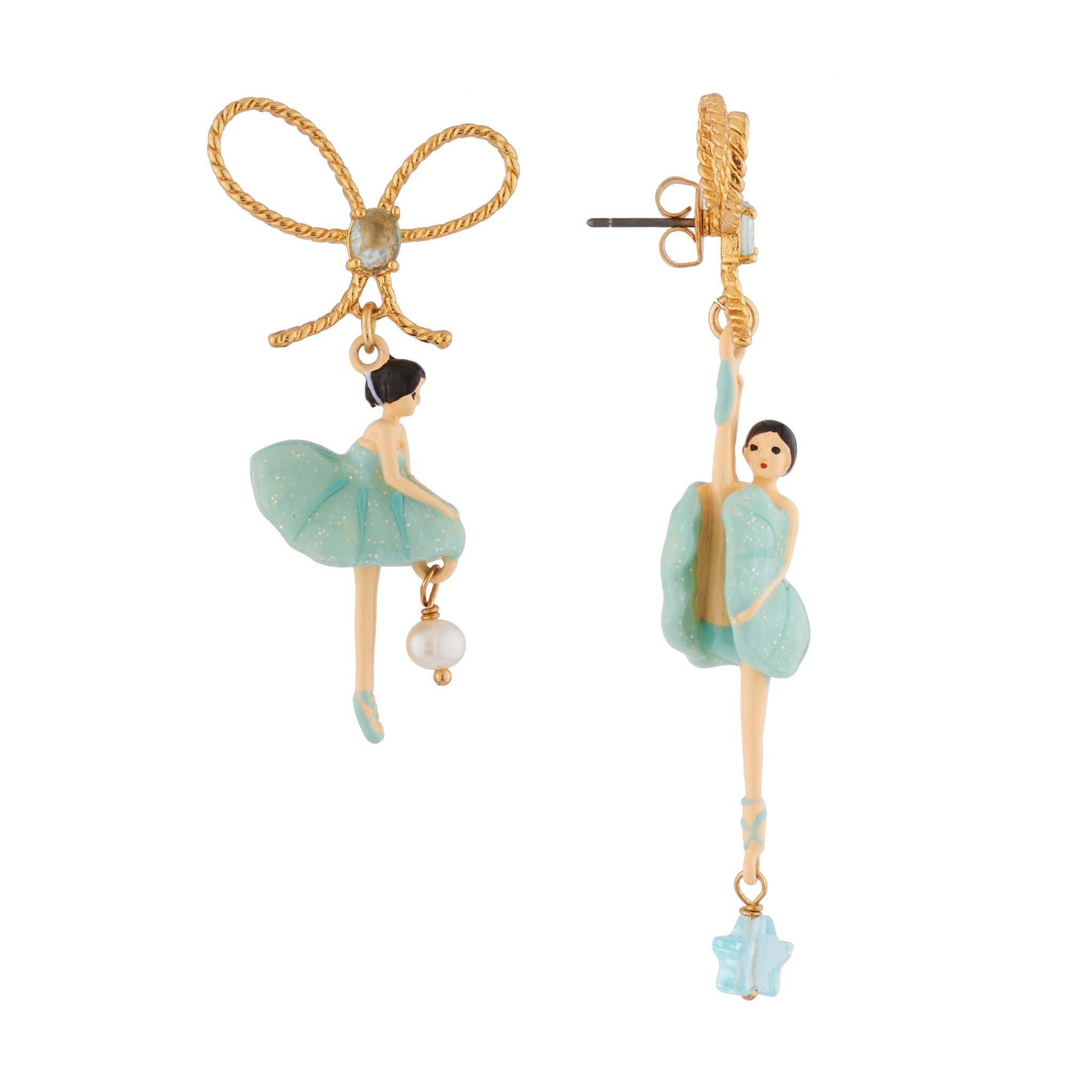 Blue Pas de Deux Asymmetrical Earrings