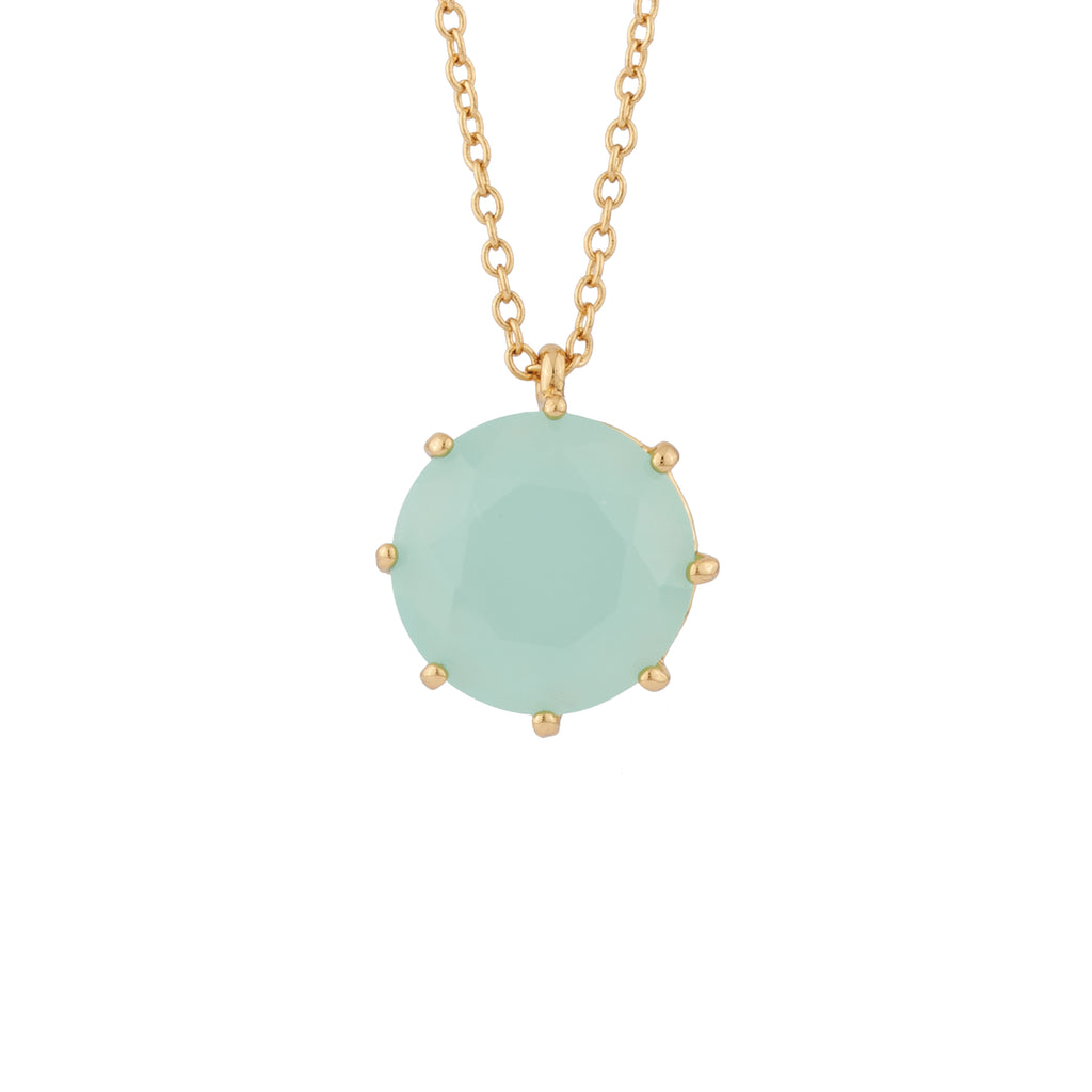 La Diamantine Long Necklace with Round Stone