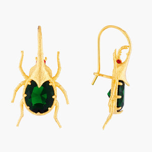 Beetle Hook Earrings