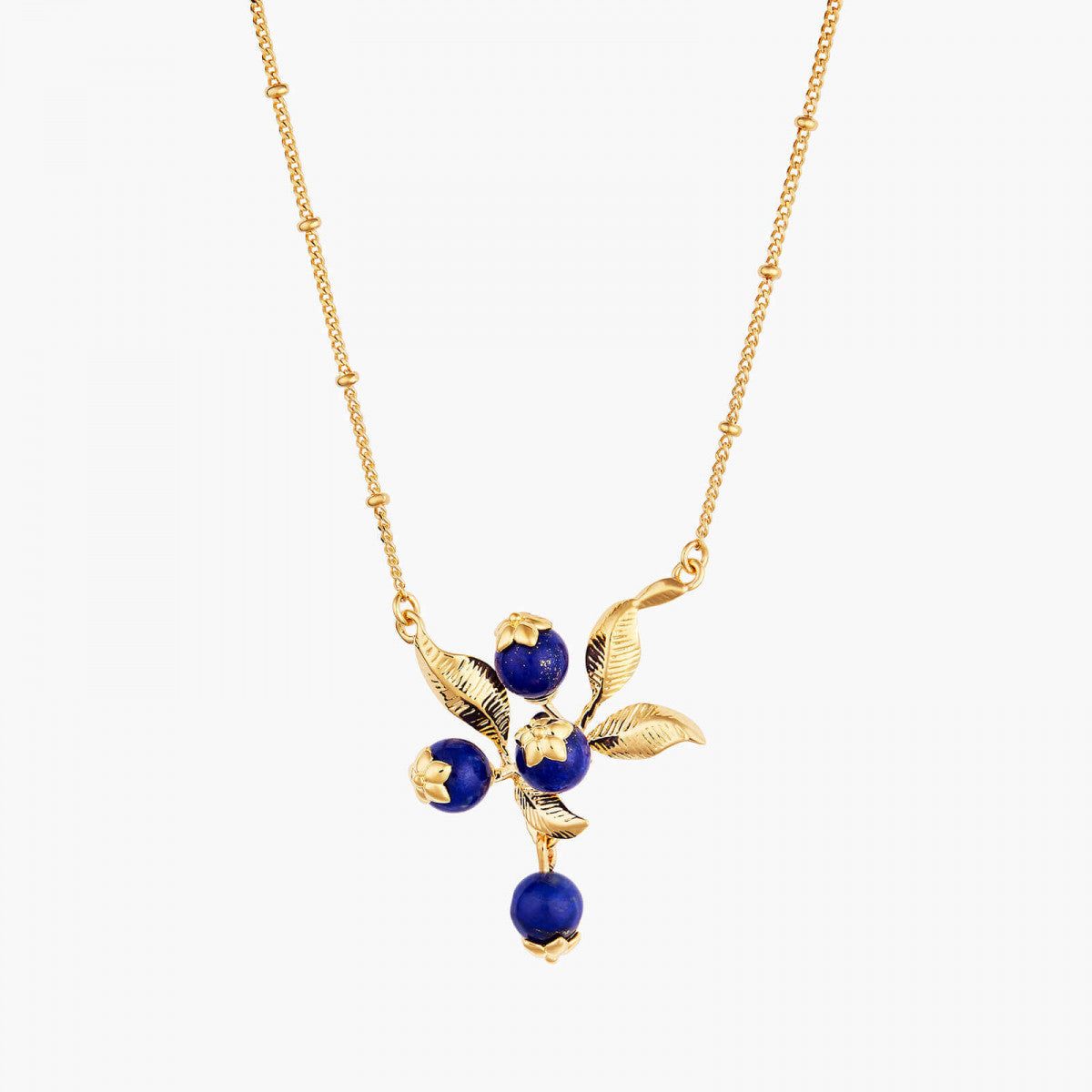 Blueberry Branch Pendant Necklace