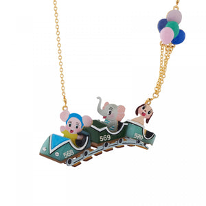 Bunch of Friends in the Toy Train Necklace